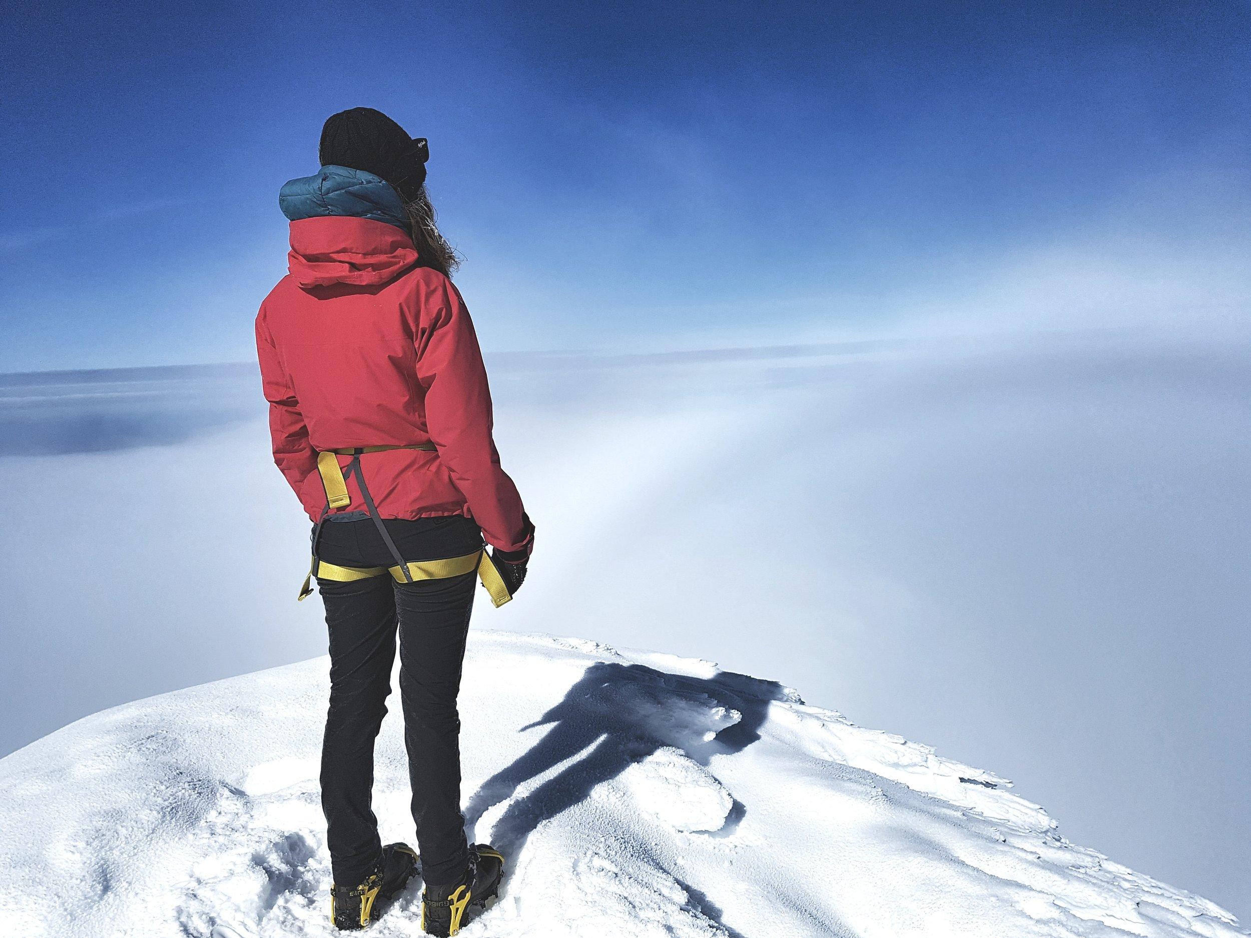 A Fog bow on Snæfellsjökull