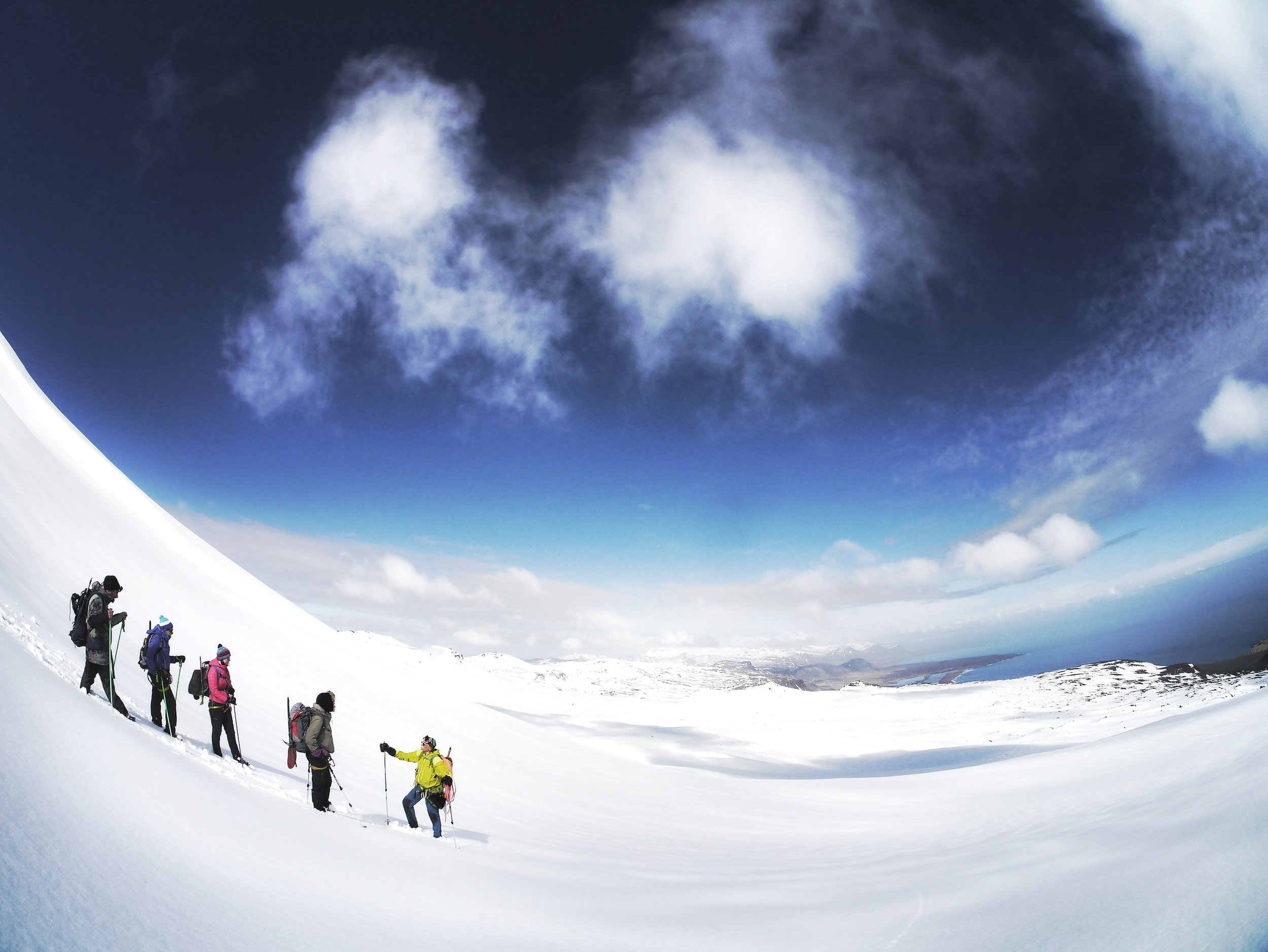 Learning the ropes on a glacier hike
