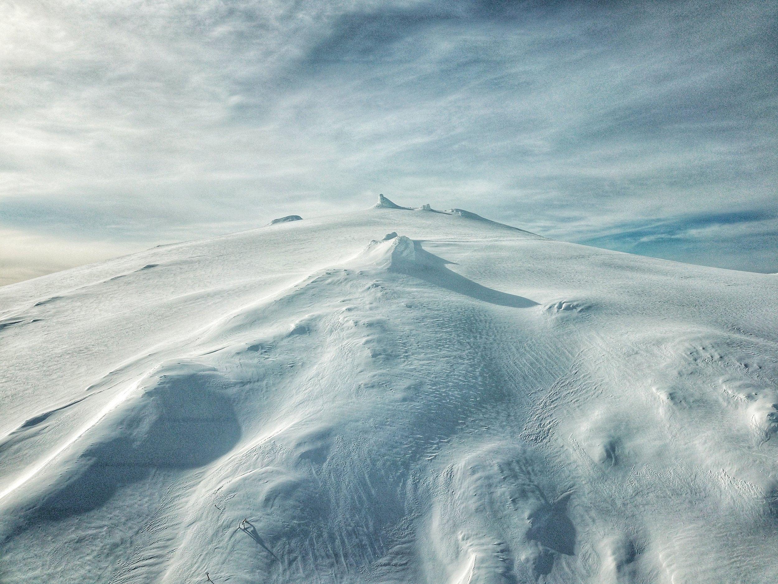 drone view of Snæfellsjökull glacier