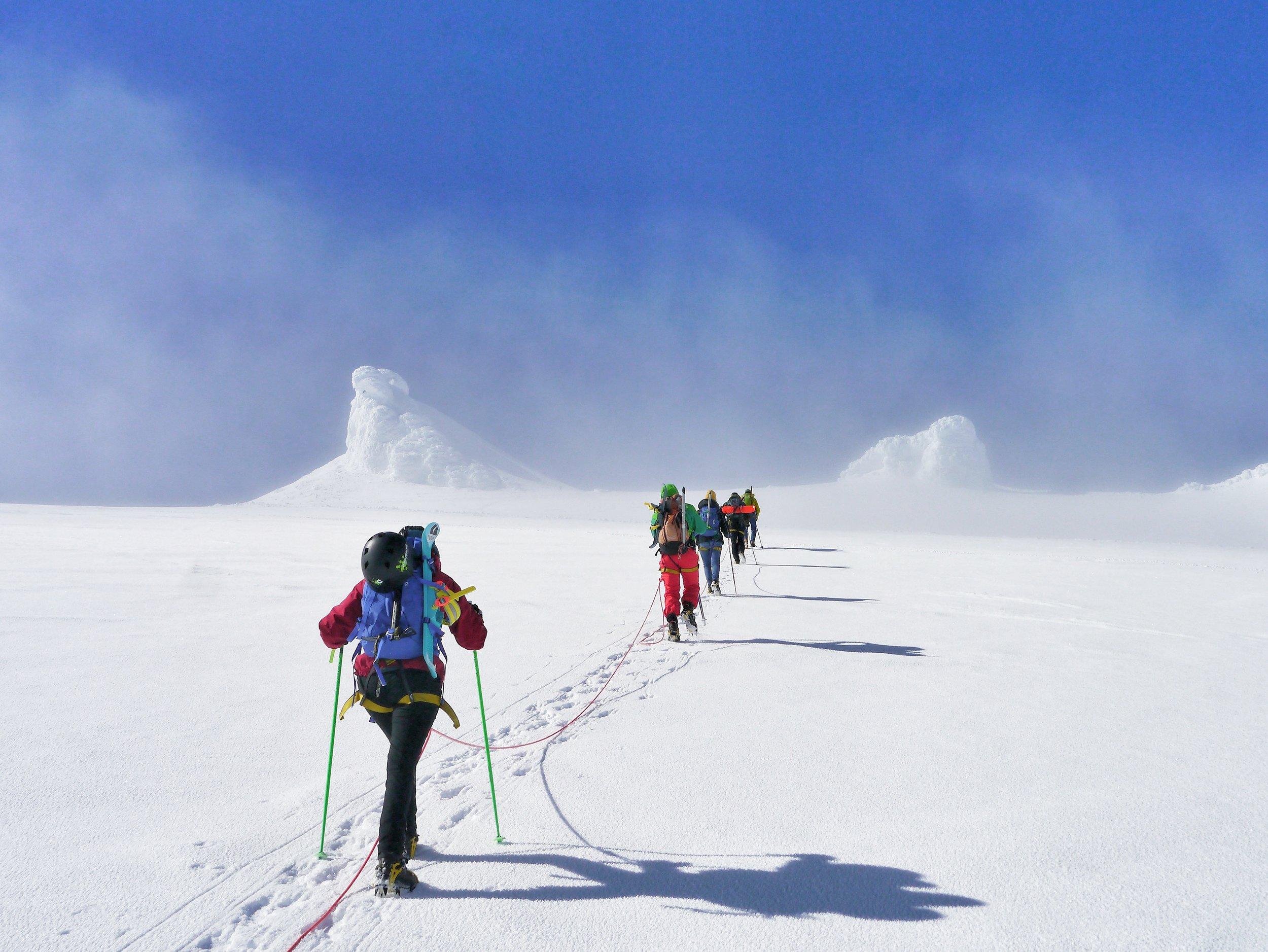 Hike to the summit on Snæfellsjökull glacier