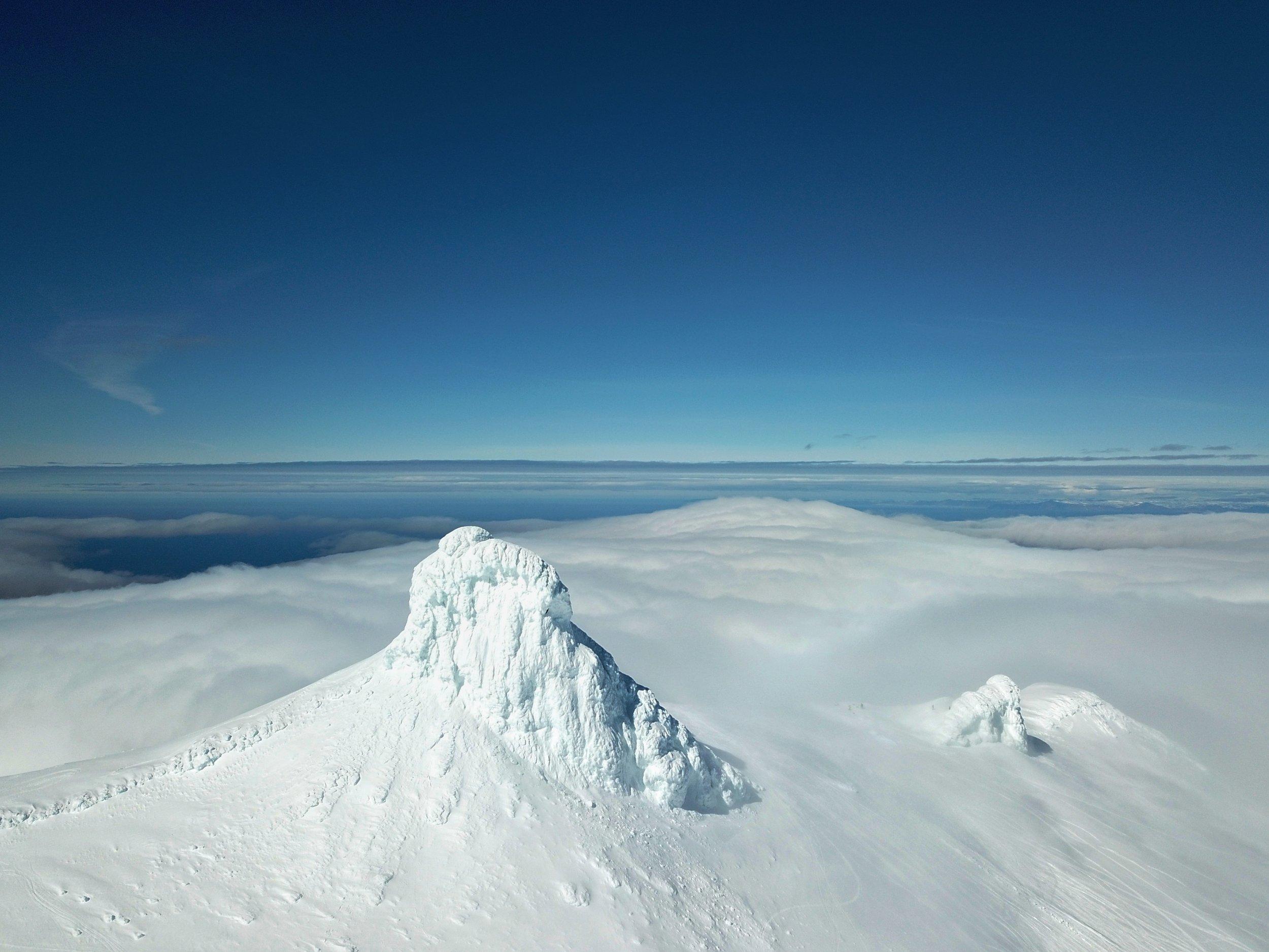Snæfellsjökull Glacier summit by air