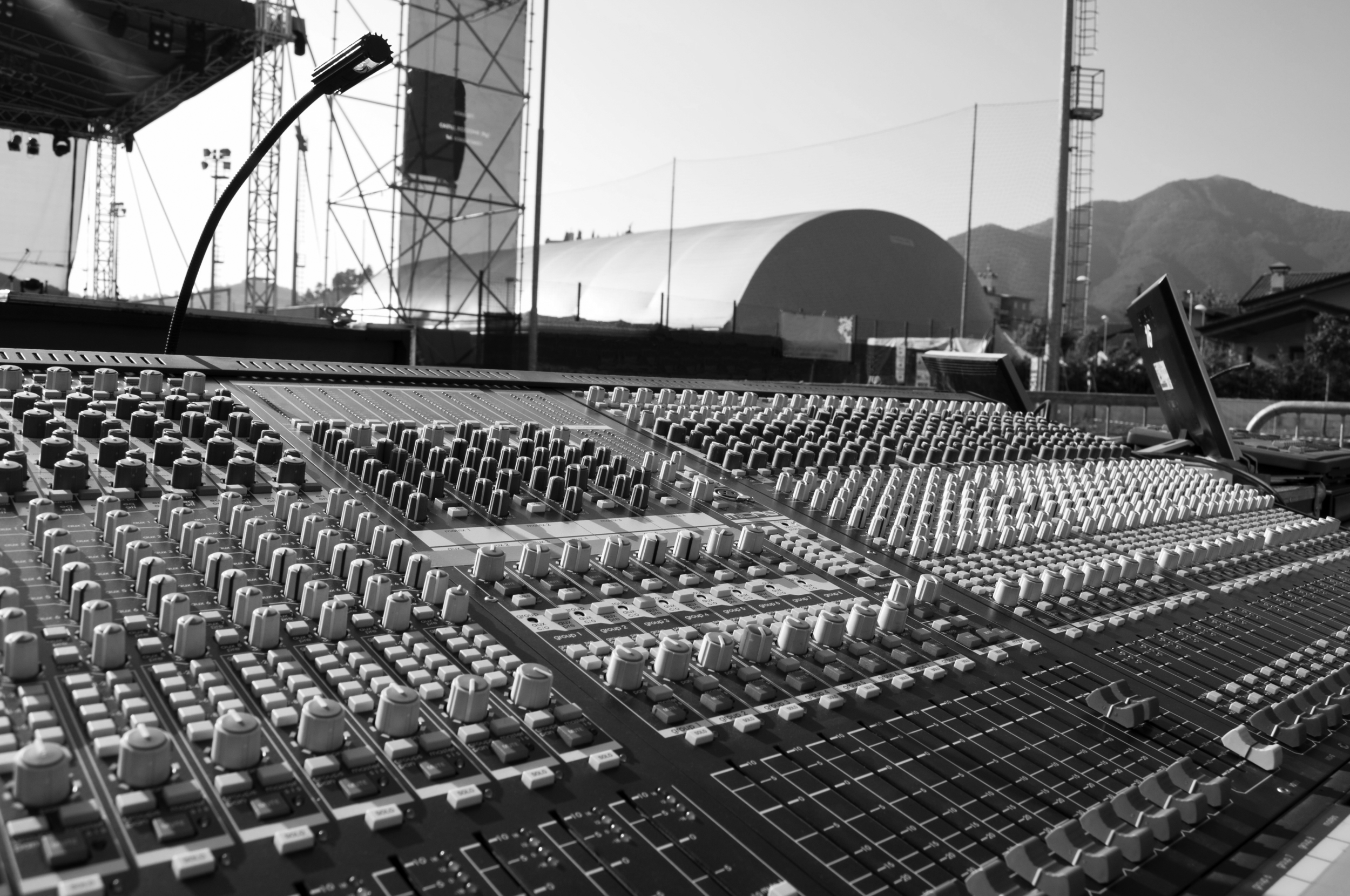 Mixing board equipment rental coverage