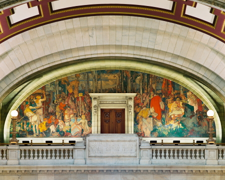 Cuyahoga County Courthouse mural
