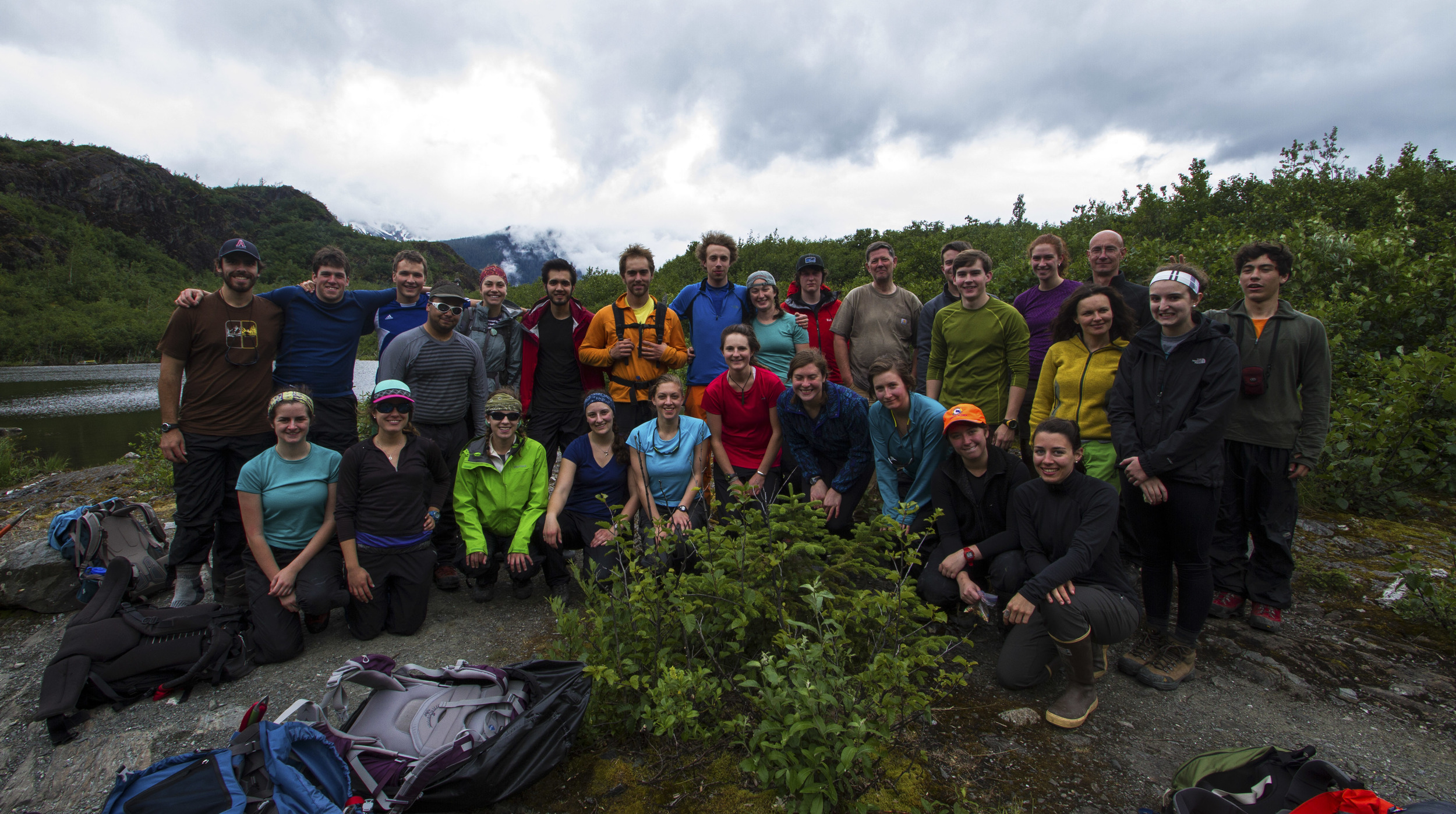 The 2013 JIRP crew en route to Mendenhall Glacier.  Photo:  Adam Taylor