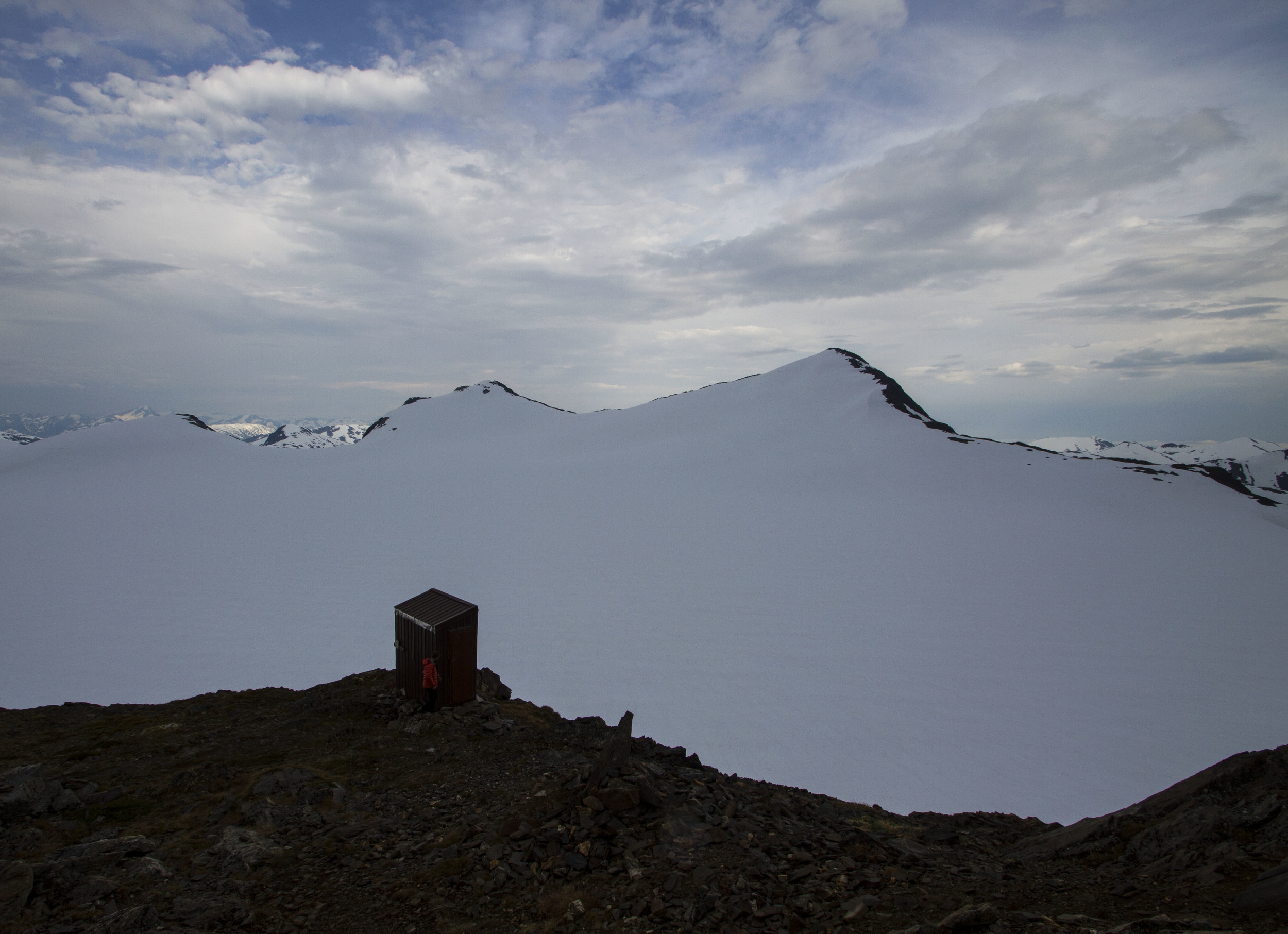 The outhouse at Camp 17 doesn't take a backseat when it comes to the view. Photo: Adam Taylor