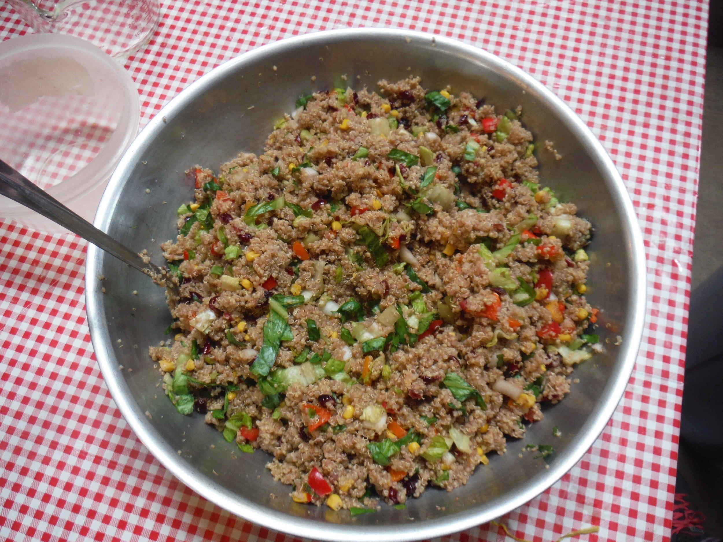 A side of quinoa salad. Photo by Sarah Bouckoms