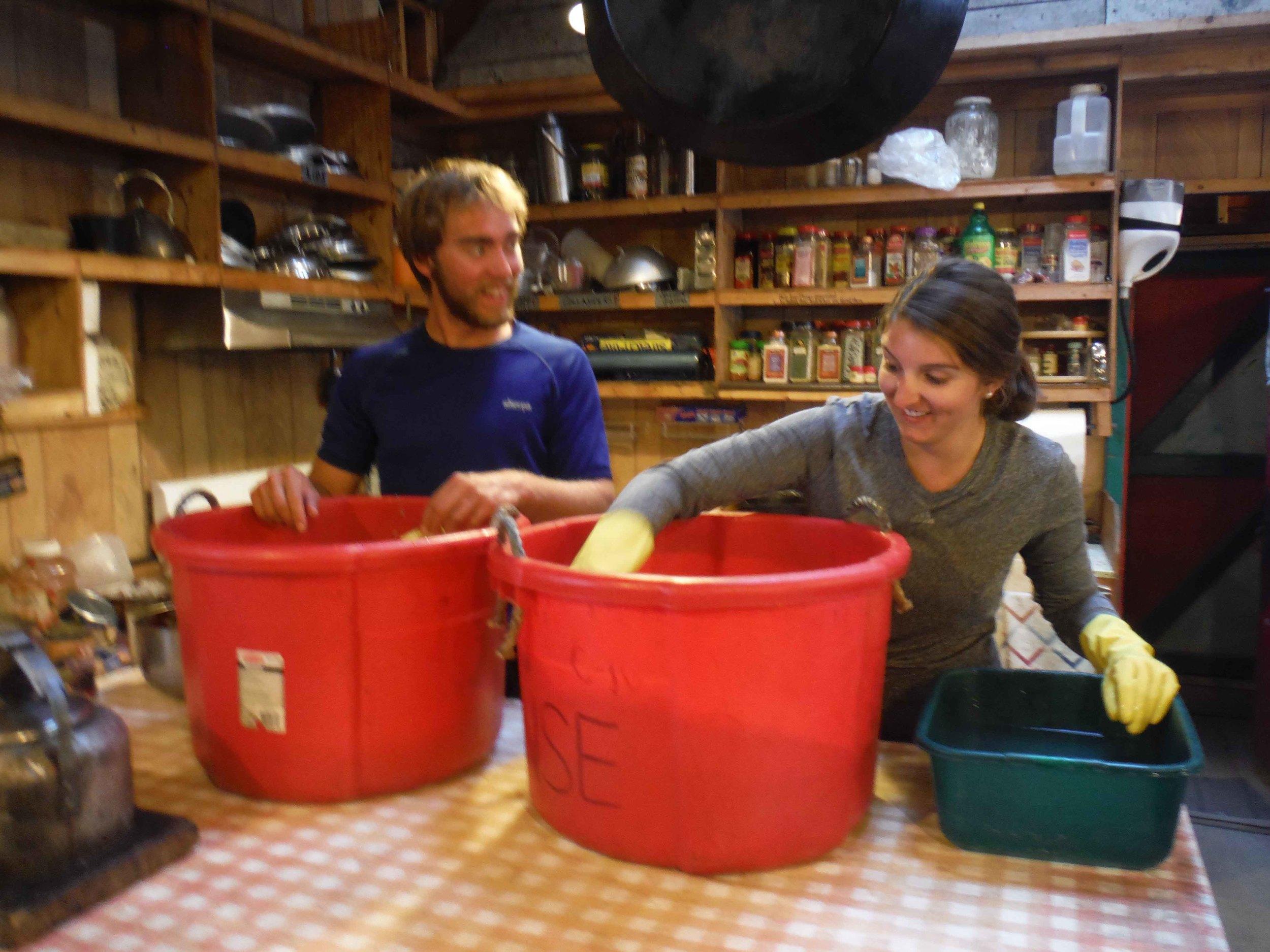 Jon Doty and Lindsay Starr hard at work. Photo by Sarah Bouckoms