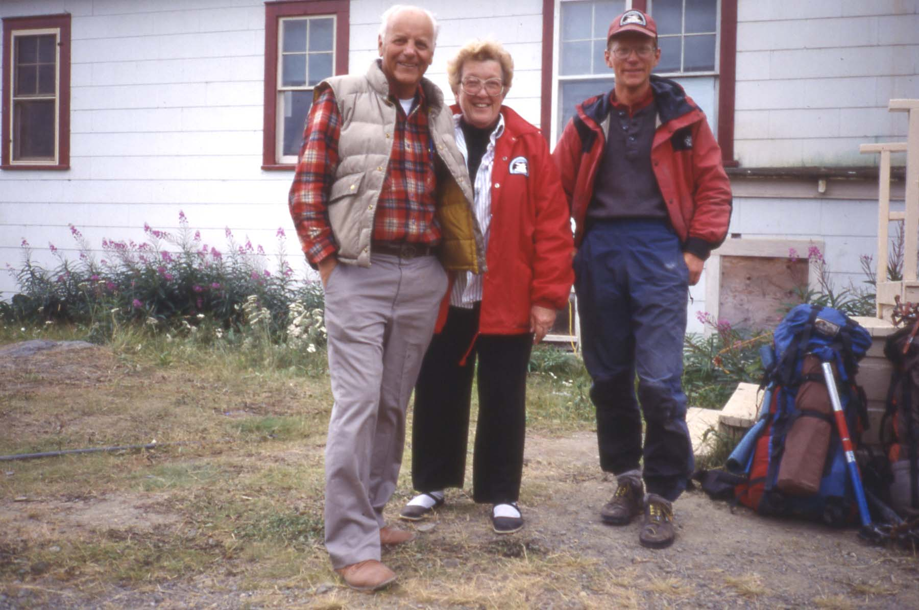 Mal and Joan Miller with Keith Daellenbach at Camp 30.  Photo courtesy of Keith Daellenbach.