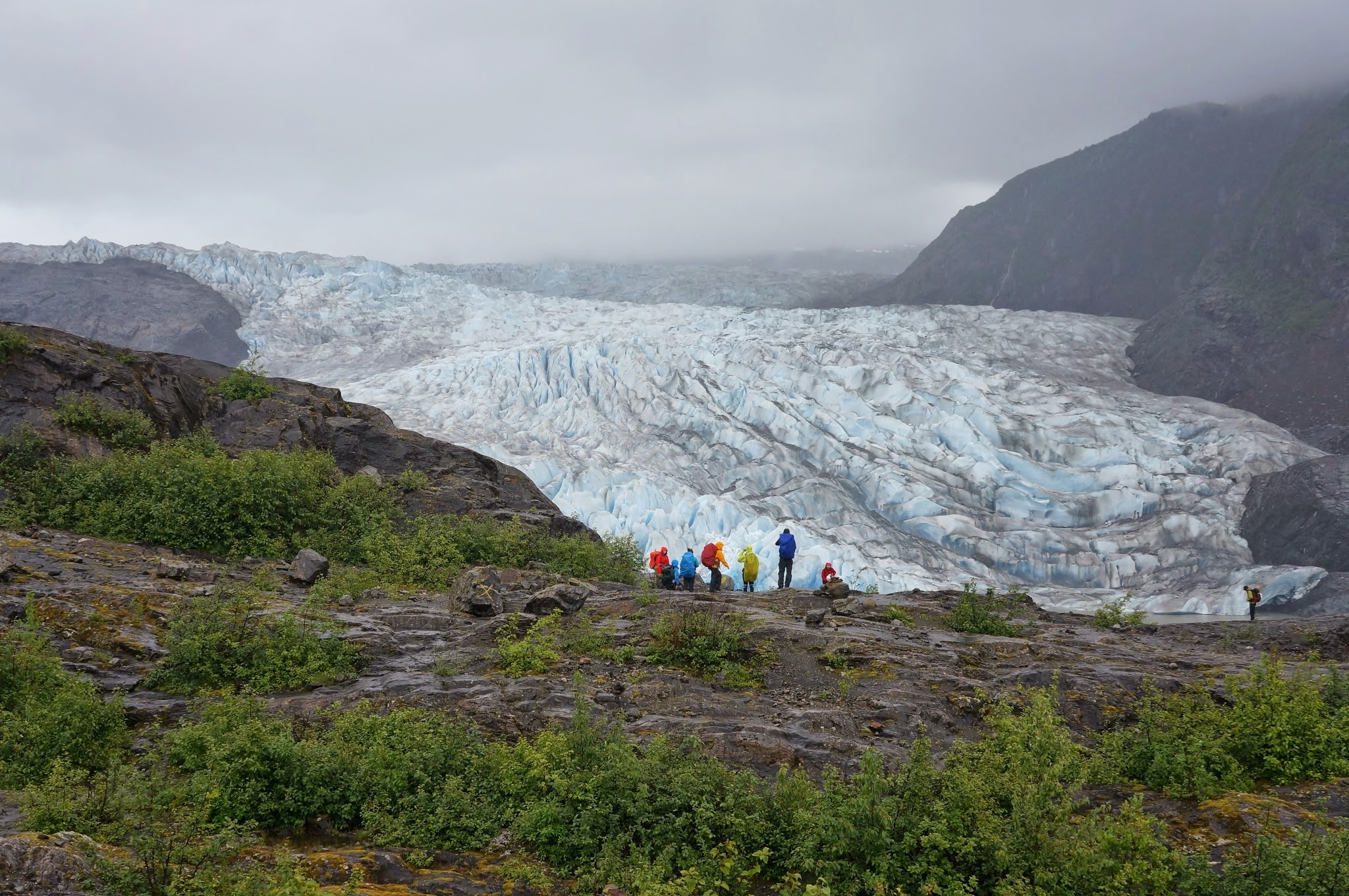 Students look out at the Mendenhall Glacier, and reflect on their new home for the next two months. (Photo by: Alexandre Mischler)