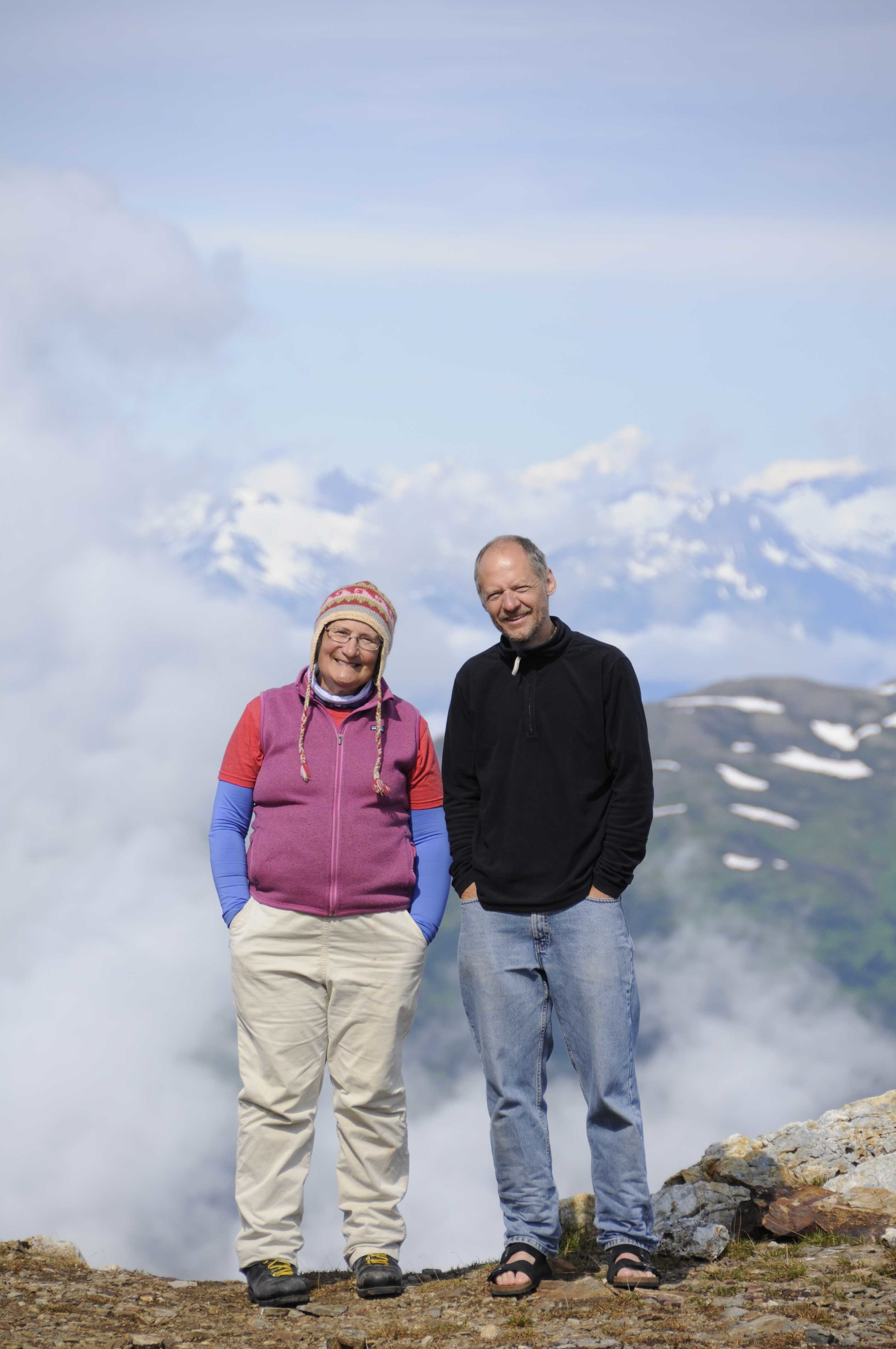 Martin Lang with faculty geologist Cathy Connor