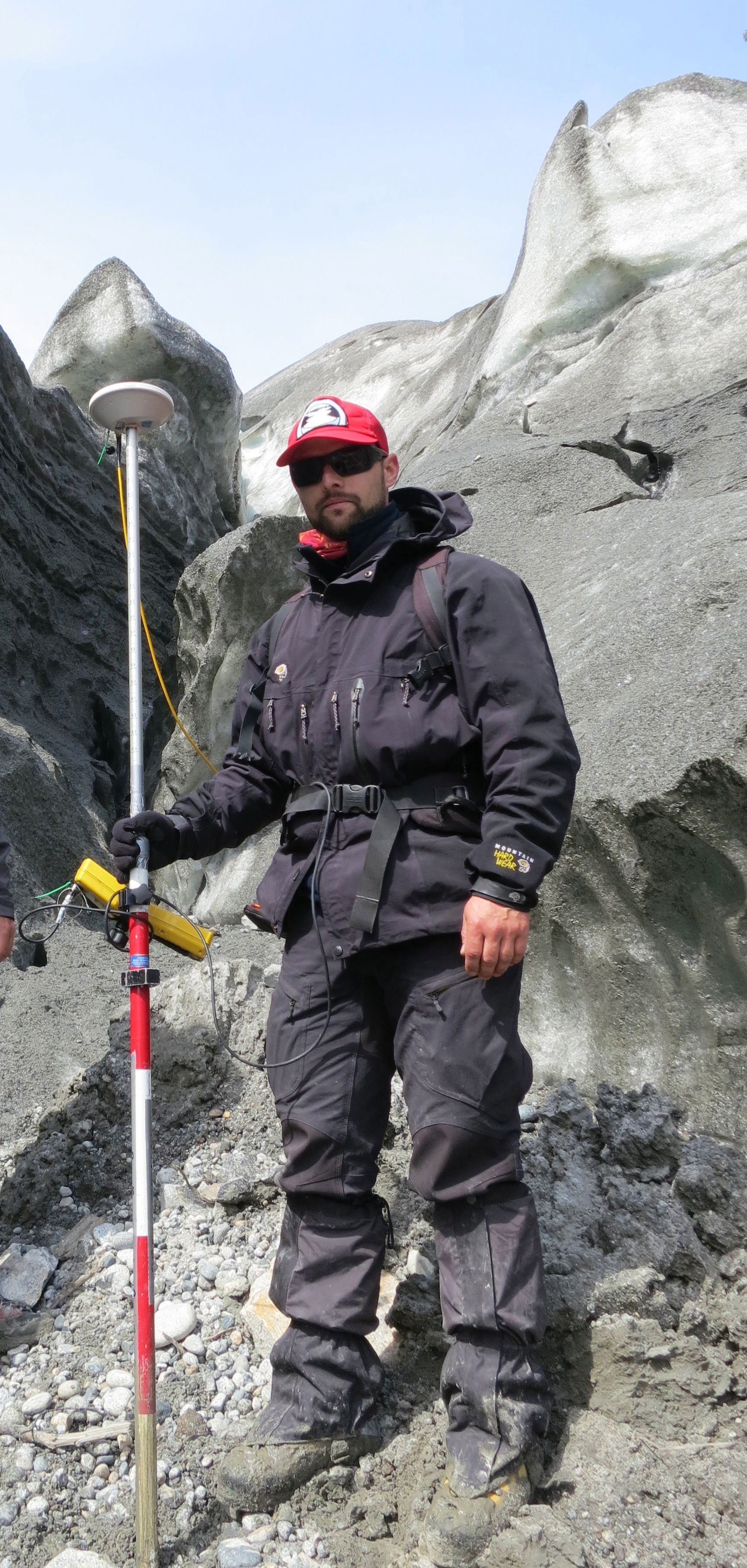Paul Winter with some GPS equipment.