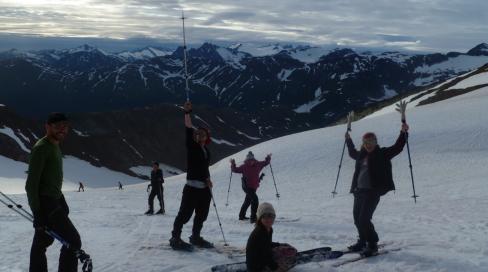 Skiing to celebrate America!