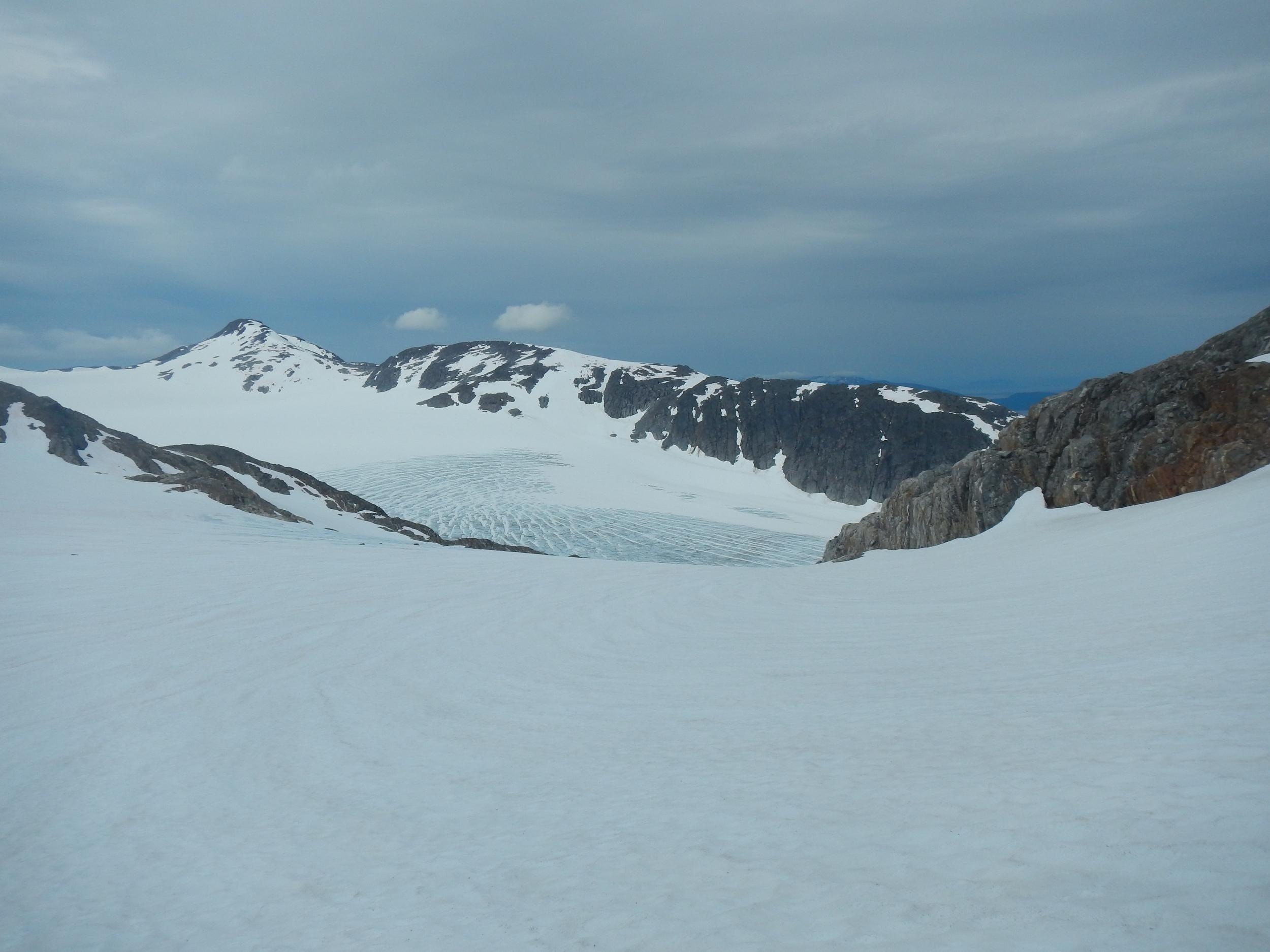 Looking back on the Lemon Creek glacier. Photo by Elizabeth Kenny