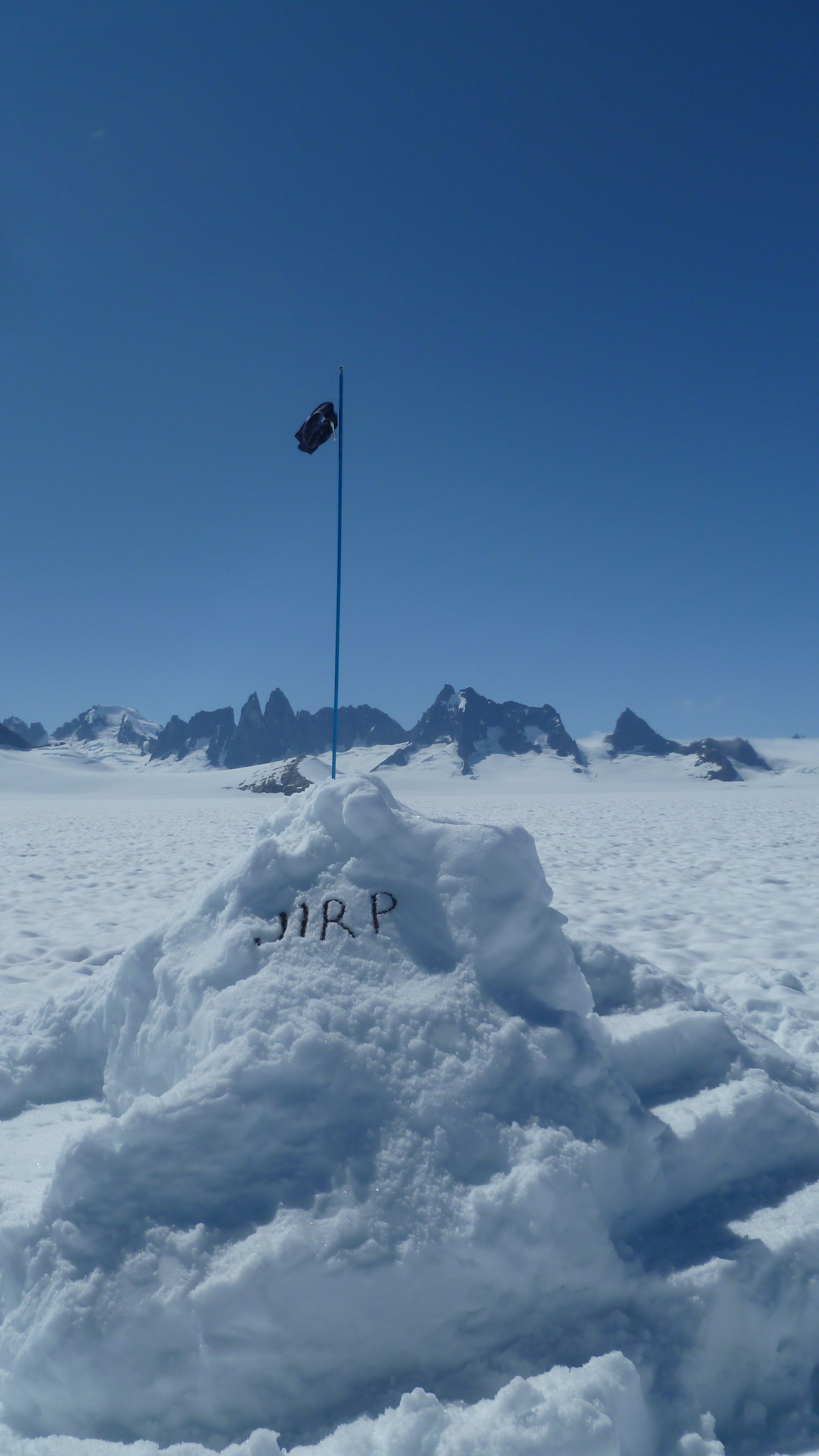 The JIRP mass balance snow throne. photo by Danielle B.