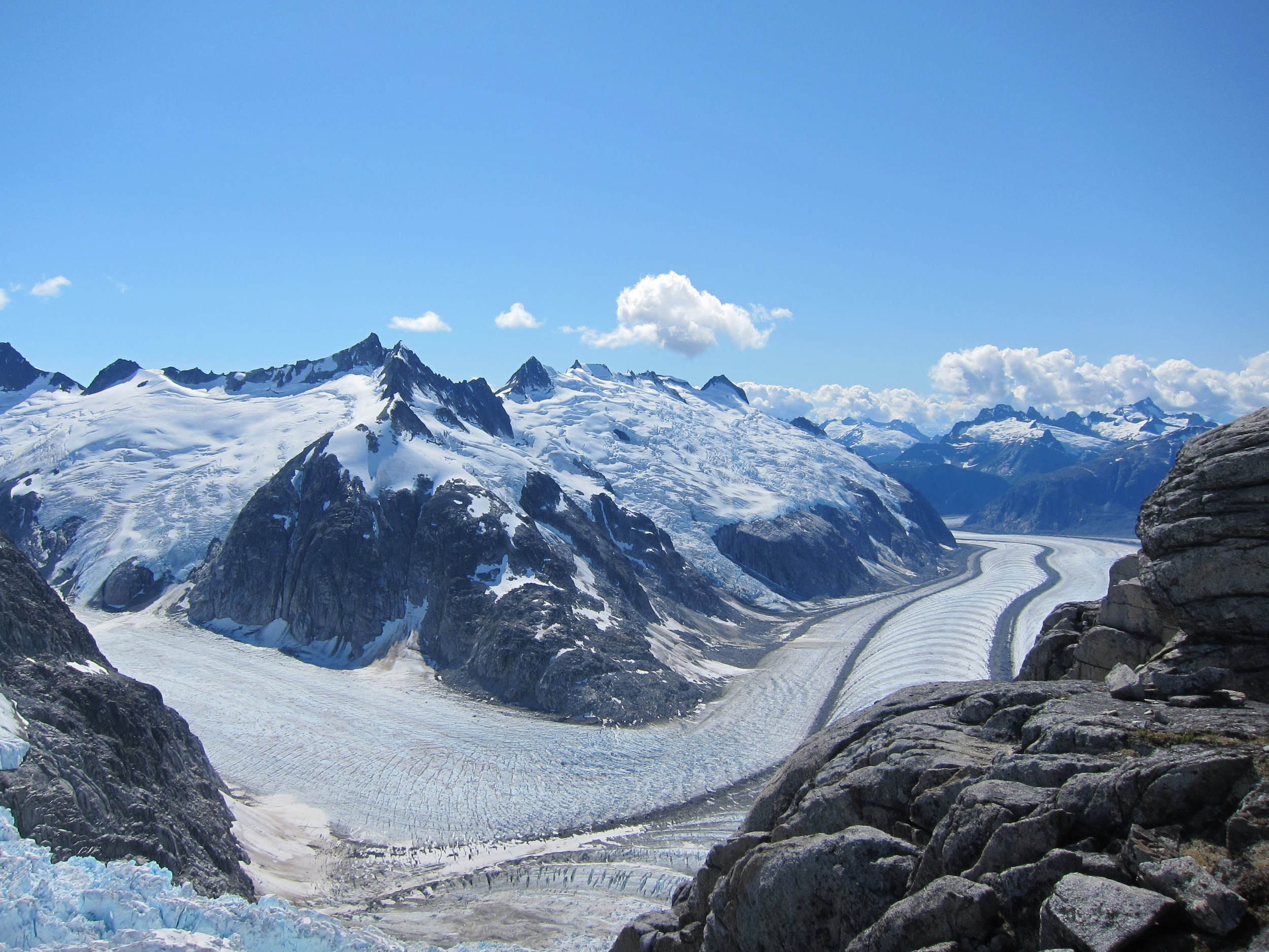 The view from Camp 18: the Vaughan Lewis Icefall and the Gilkey Trench