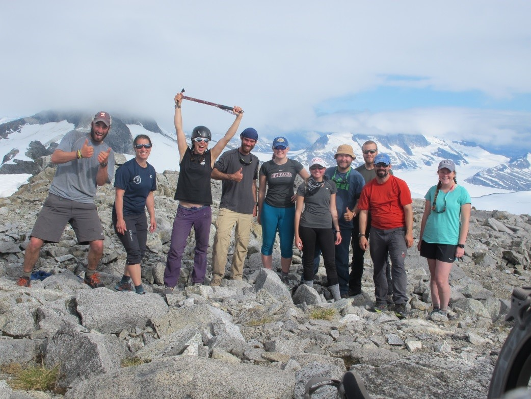 The crew on top of Taku B (photo: Aaron Chesler)