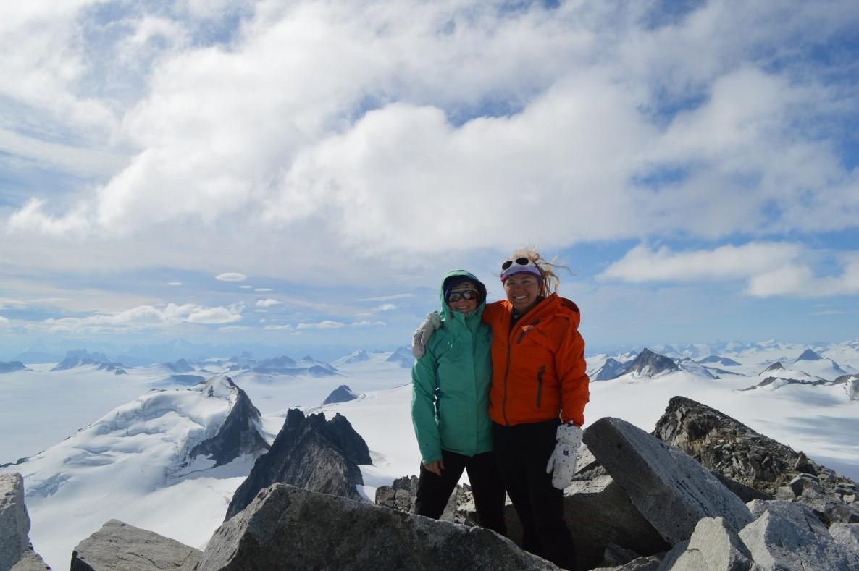 Ella and Rachel at the top of Mt. Moore (Photo Credit: Scott Braddock)