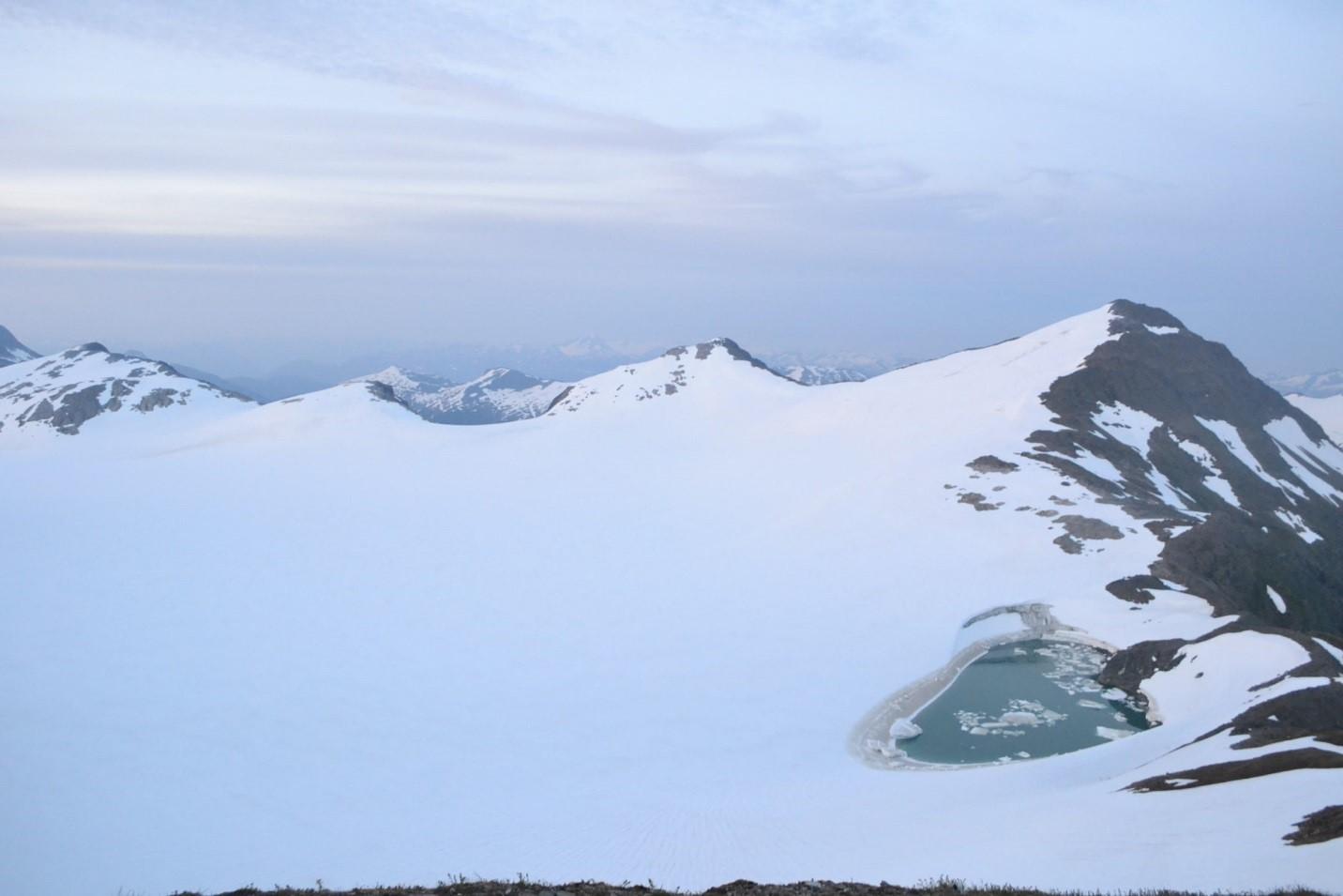 Lake Linda on the Lemon Creek glacier, mid-drainage. Photo by Joel Wilner.