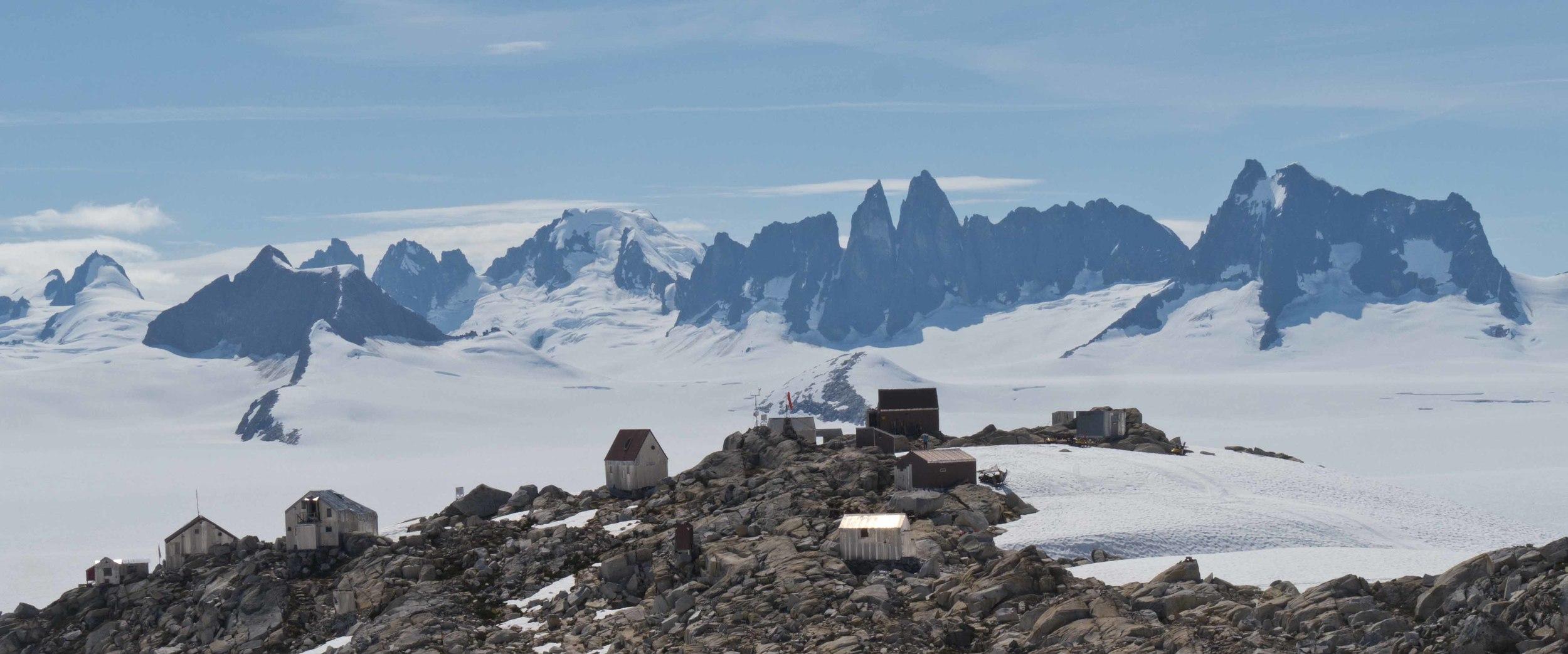 Camp 10 with the Taku Range beyond. Photo by Matt Beedle.