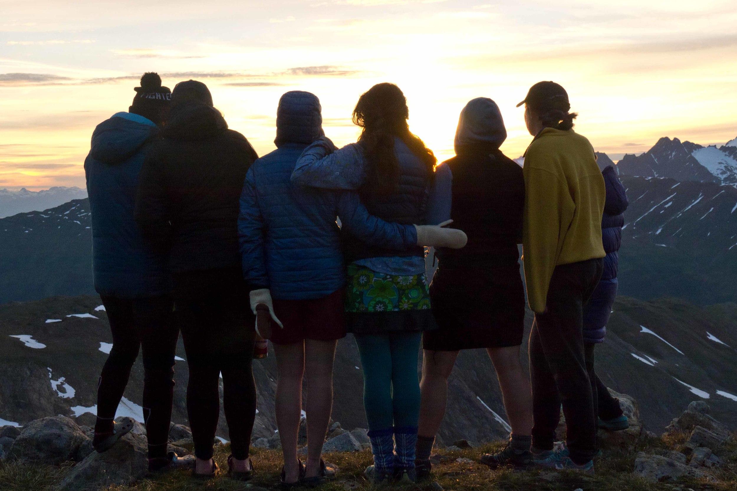 Sunset at Camp 17. Photo by Matt Beedle.