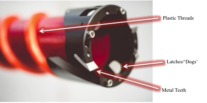 Figure 1. Image of the bottom of a snow corer. Photo Credit: Kovacs Enterprise; Ice Drilling and Core Equipment