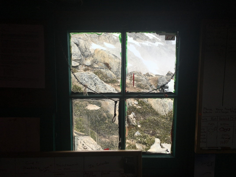 Radio Room window, Camp 10. Photo credit: Crystal Yong