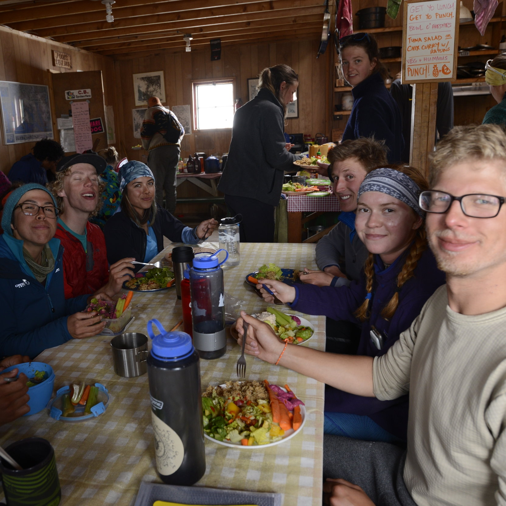 Dinner at Camp 10. PC: Jay Ach.