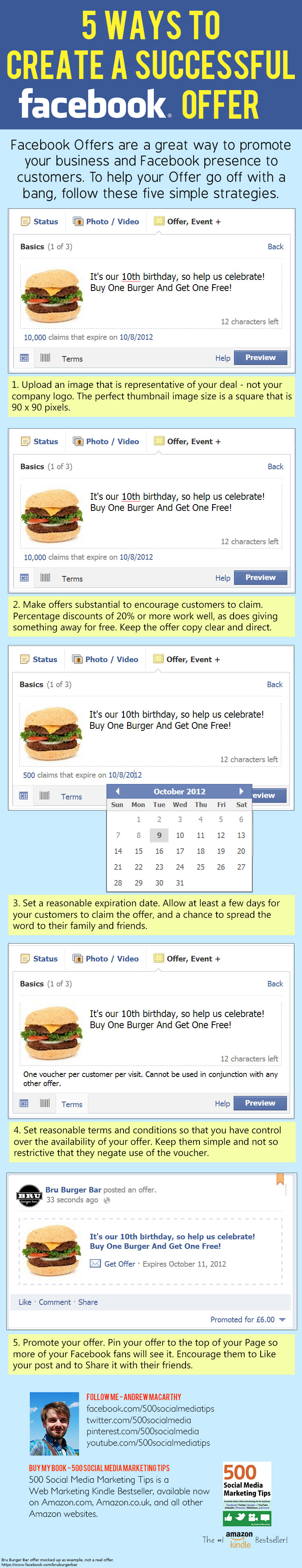 5 Ways to Create A Successful Facebook Offer [INFOGRAPHIC] #socialmedia #infographic