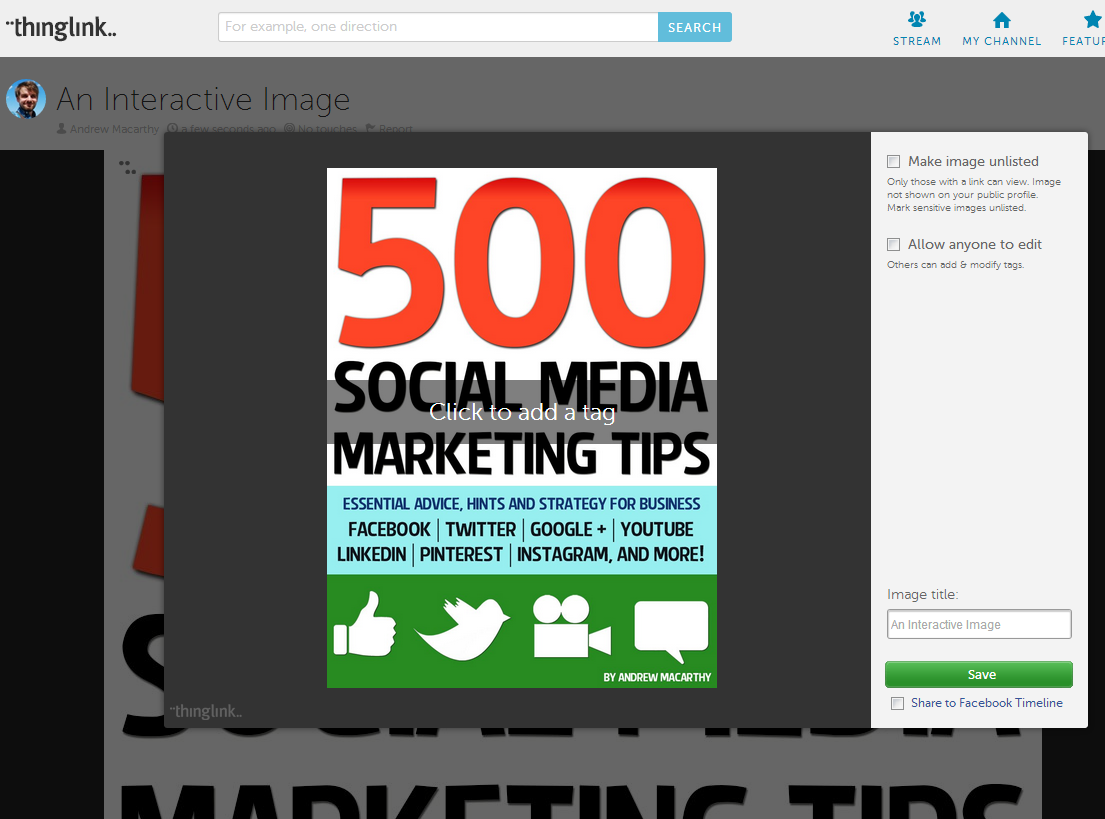 How to Use Thinglink For Marketing on Facebook and Twitter
