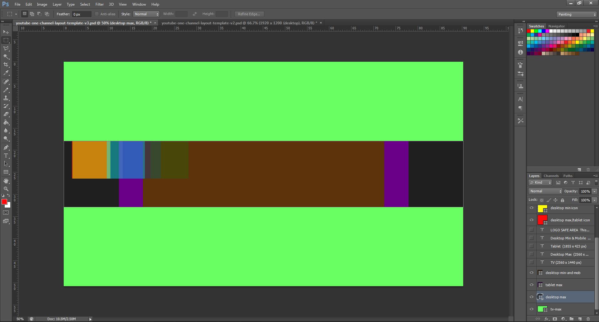 Youtube Cover Art Template Psd 2560 X 1440 Photoshop Gimp
