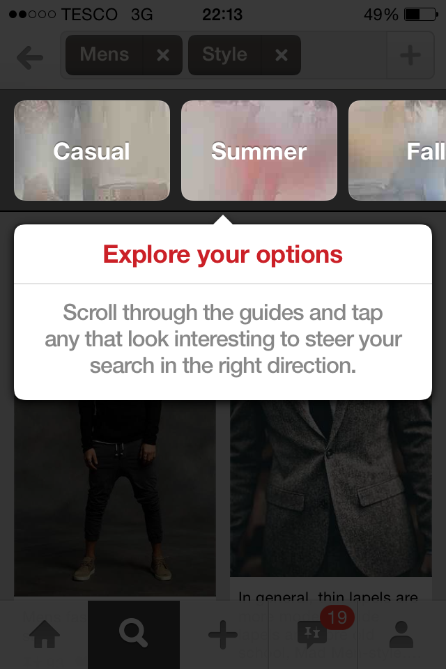 Pinterest's Guided Search Example