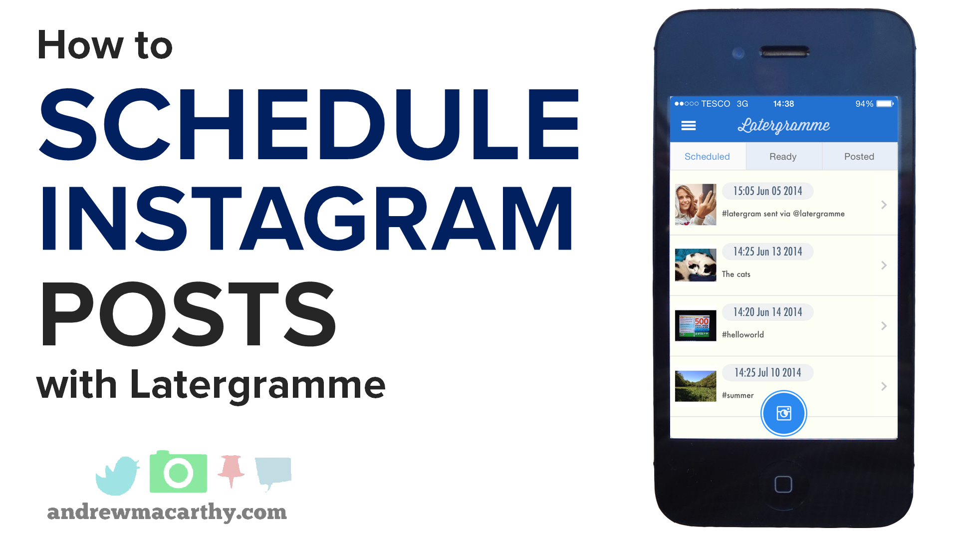 How to Schedule Instagram Posts Using the Latergramme App or Latergramme Website