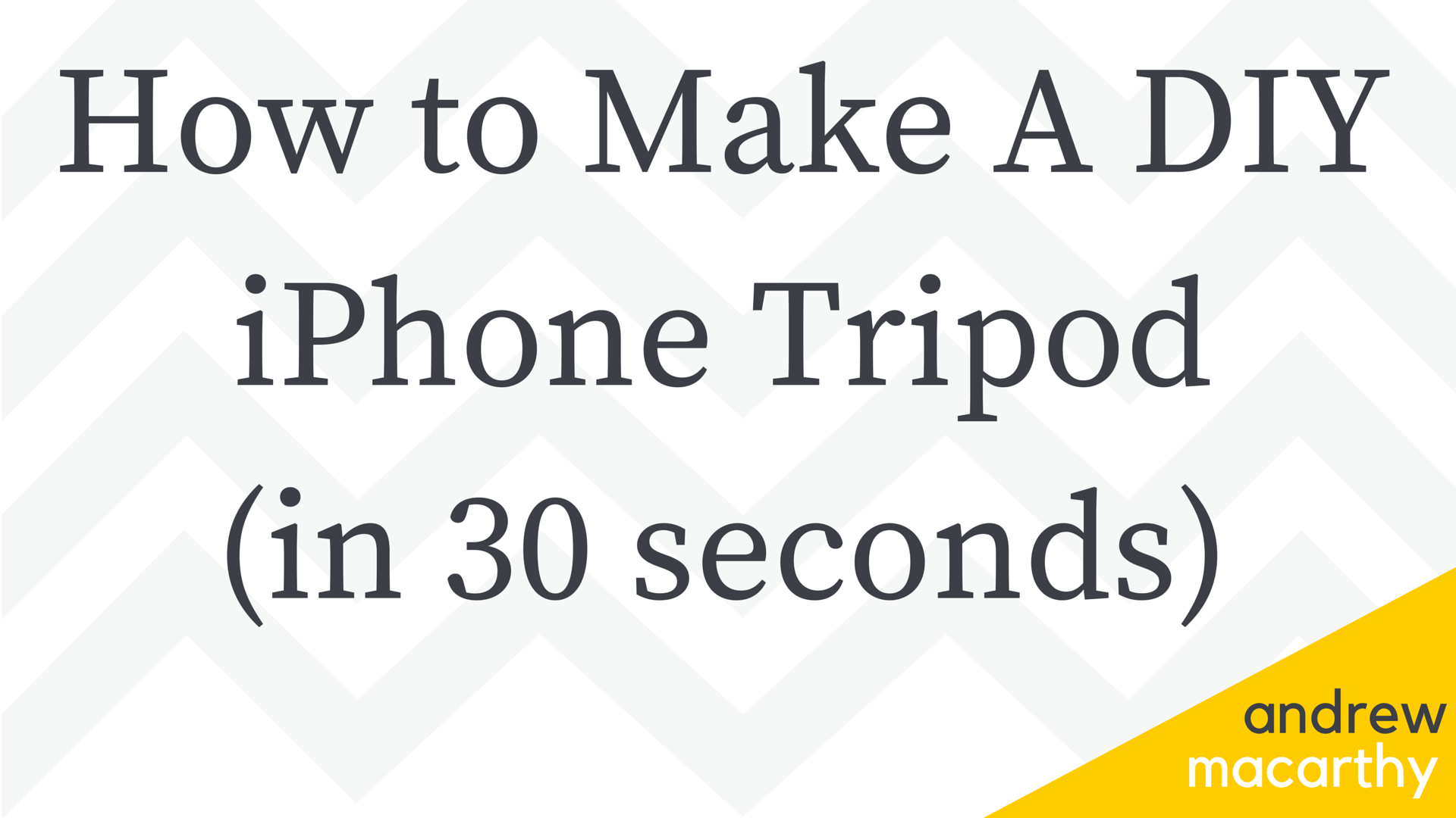 How to Make a DIY iPhone (Mobile Phone) Tripod Stand - in 30 Seconds!