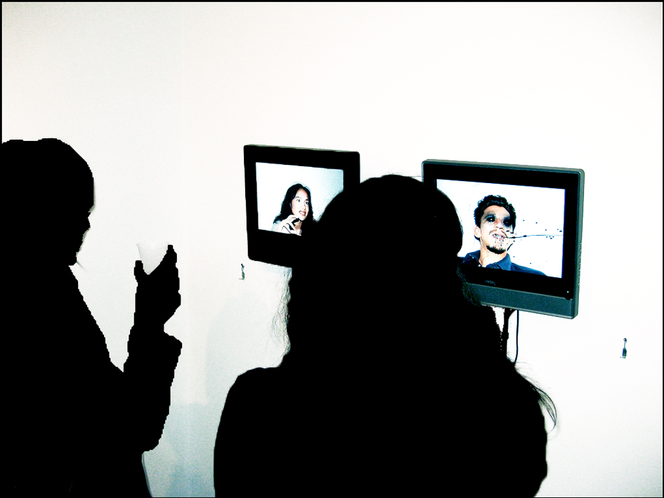 """My Portrait Of Your Identity, Your Portrait Of My Identity. Lucie And Joaquin"" 2008  A Video Collaboration With Antonia Dias Leite."