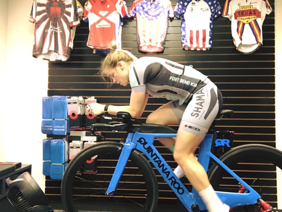 Fitting Pro Triathlete Rachel Olson on her QR PRSix