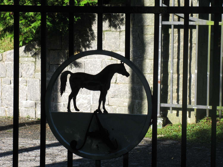 Ironwork Horse on Front Gates
