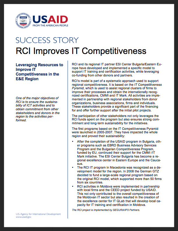 RCI Success Stories: Improves IT Competitiveness