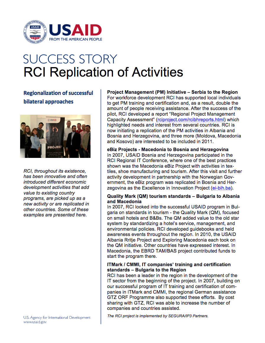 RCI Replication of Activities - click to view/download