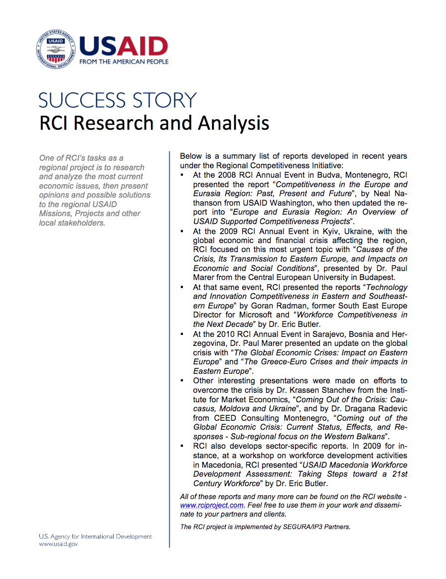 RCI Research and Analysis - click to view/download