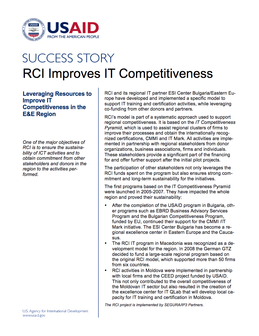 RCI Improves IT Competitiveness - click to view/download
