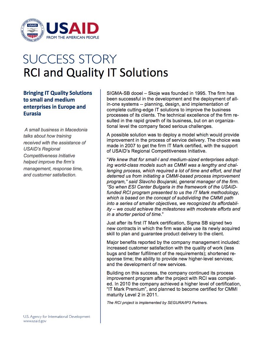 RCI and Quality IT Solutions - click to view/download