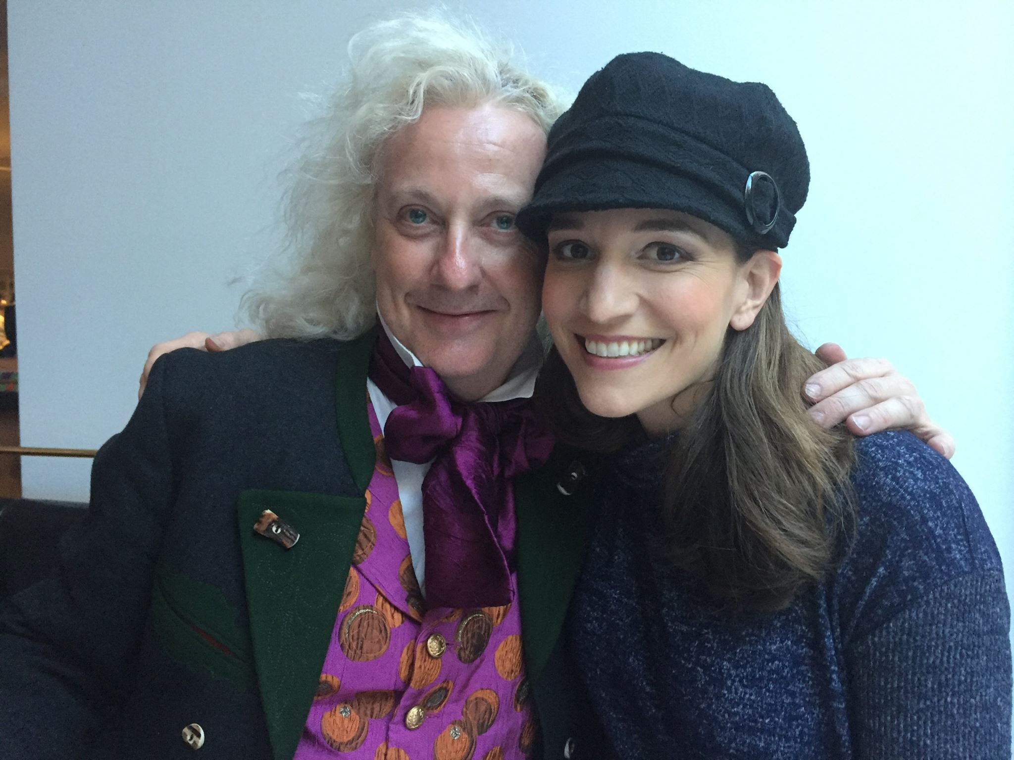 With the lovely Christophe Mortagne after a performance of Hoffmann, LA, 2017