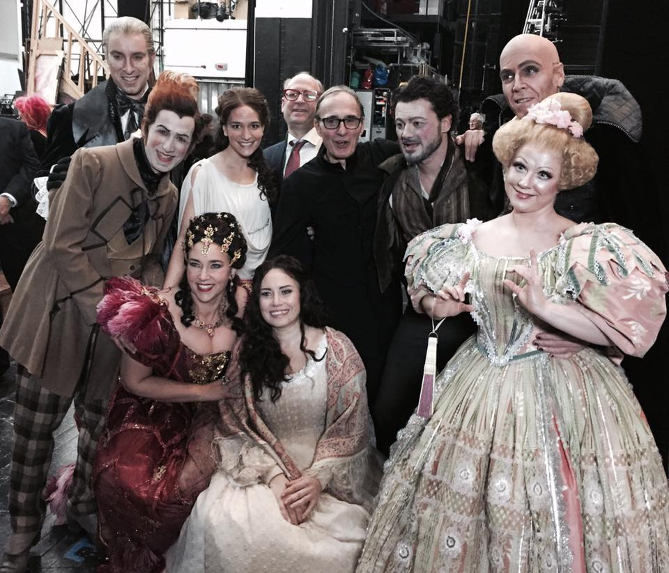 With the cast of Hoffmann, Royal Opera House, 2016