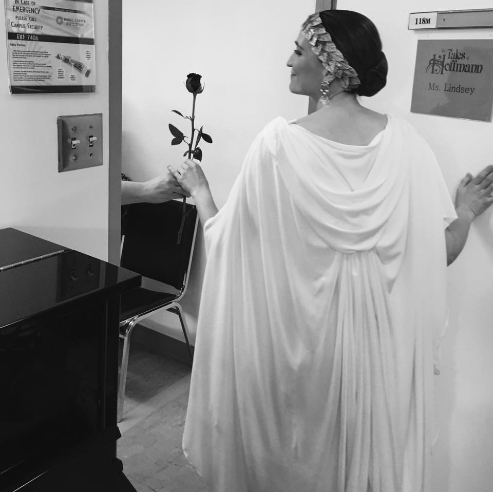 Before stepping on stage as The Muse in Hoffmann, LA, 2017