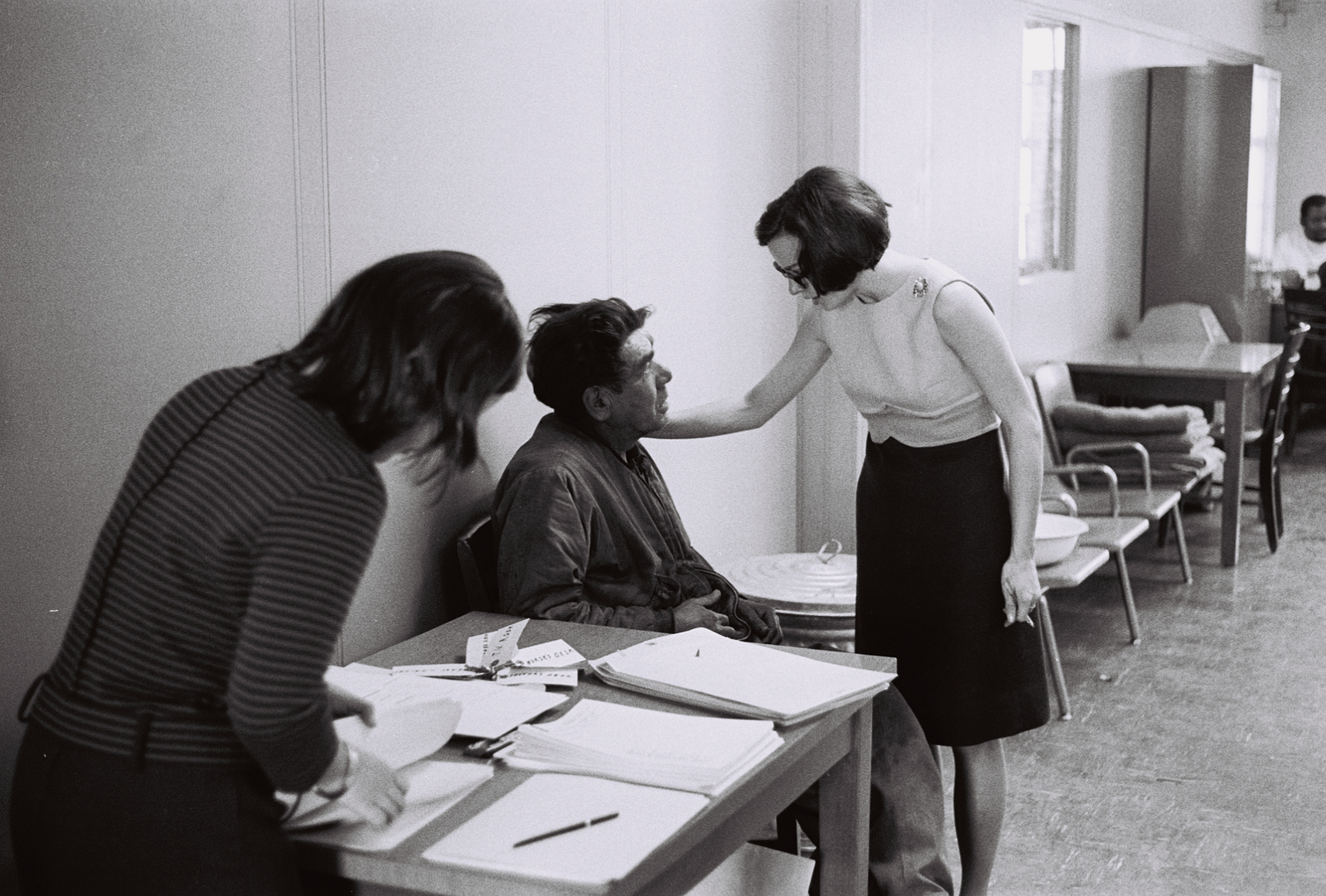 A man gets help at the medical detox clinic in 1967