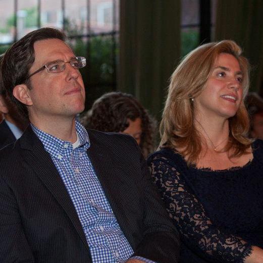 2012 Gala Host Ed Helms with Pamela Bell