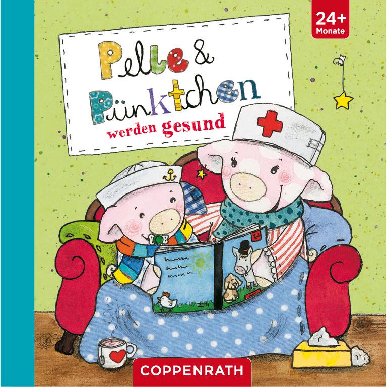 Pelle & Pünktchen haben sich ein neues rotes Sofa gekauft und lesen ein Buch, das es vielleicht auch bald zu kaufen gibt...