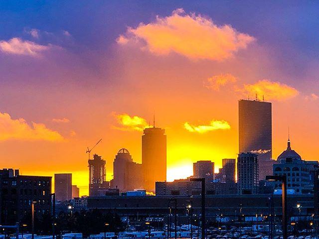 Sunset over Boston #iphonephotography #iphonex #lightroom #latergram
