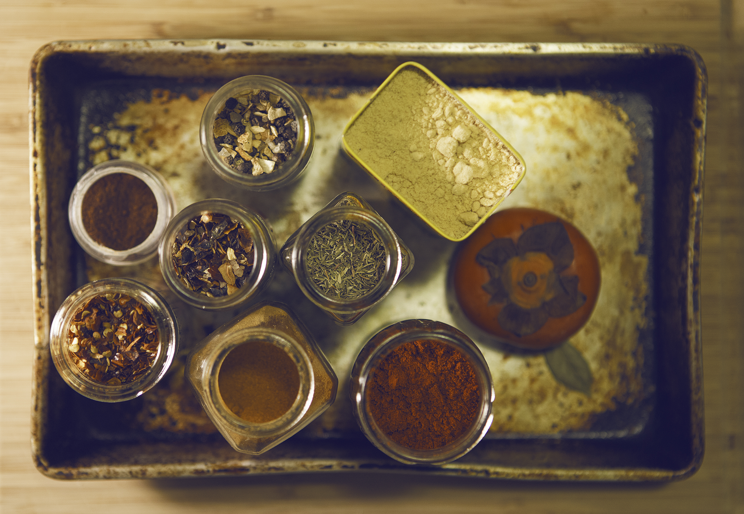 Playing around with spices for a change - for Alex's currently-being-born-food-blog.
