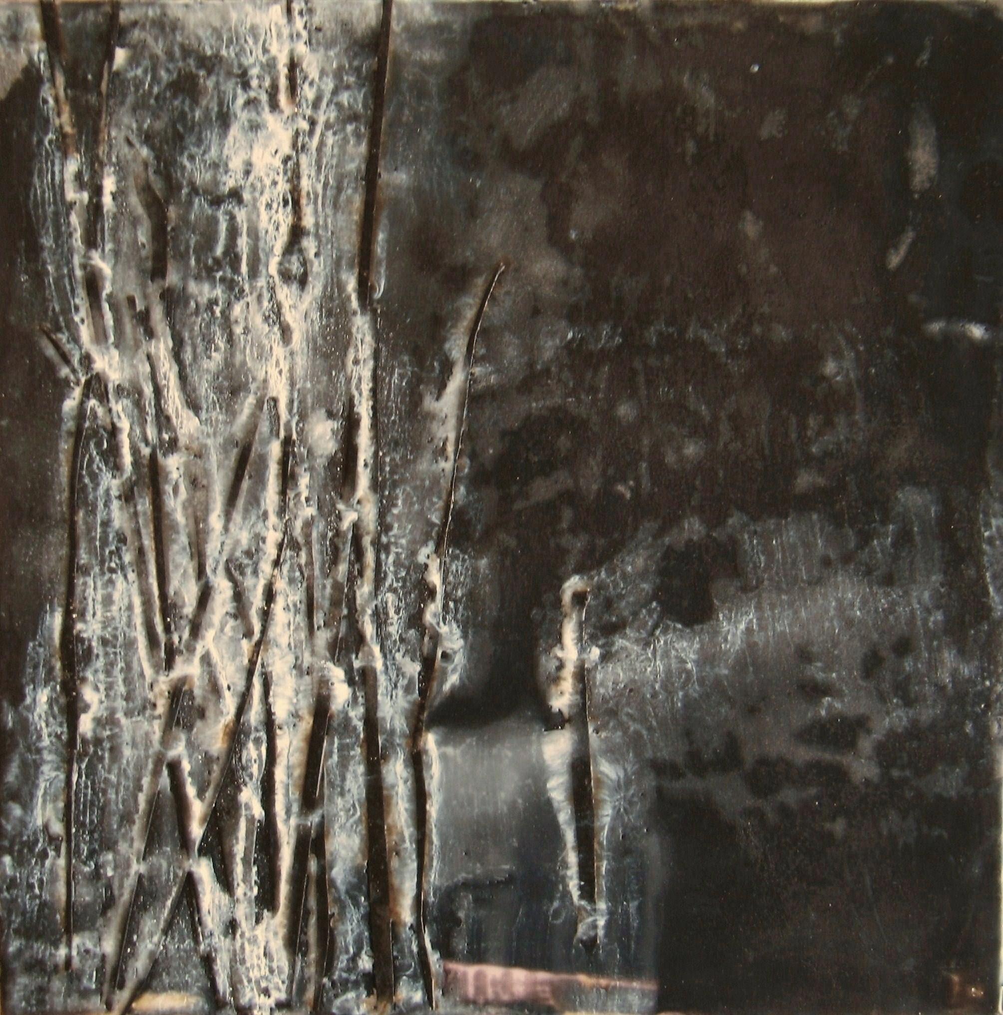 Frozen, 2009 / Encaustic on wood panel, 10 x 10 / Sold